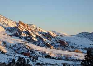 Red Rocks, the morning after the blizzard!